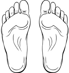 Footstep vector image