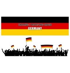 Cheering or protesting crowd germany vector