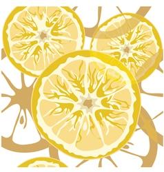 Seamless citrus pattern vector image