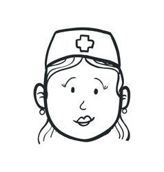 Nurse icon medical and health care design vector