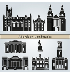 Aberdeen landmarks and monuments vector image vector image