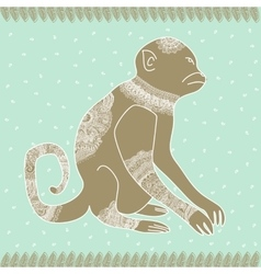 Anima monkey tender vector image