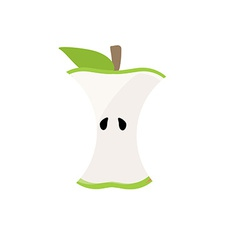 Apple stump vector image