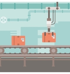 Background of conveyor belt vector