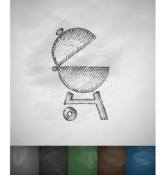 barbecues icon Hand drawn vector image vector image