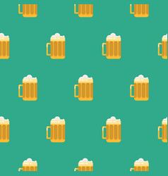 beer glass seamless pattern vector image vector image