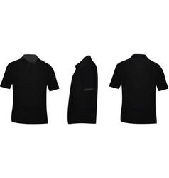 black polo t shirt vector image vector image