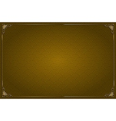 Brown chinese background and gold decoration vector image