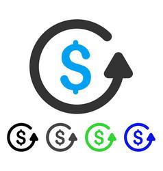 Chargeback flat icon vector