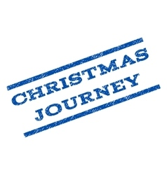 Christmas journey watermark stamp vector