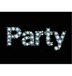 Diamond word Party vector image vector image