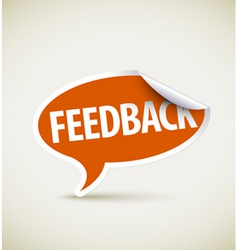 feedback speech bubble vector image vector image