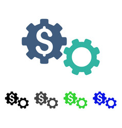 Financial gears flat icon vector