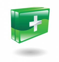 first aid kit illustration vector image vector image