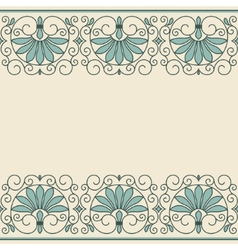 Floral ornament greek style vector