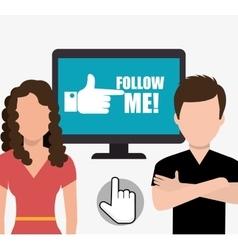 Follow me social trends vector