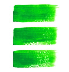 Green acrylic painted brush stroke set vector