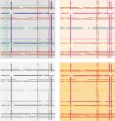 grunge tartan pattern vector image