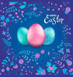 Happy easter collection vector