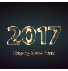 Happy New Year 2017 firework background Greeting vector image vector image