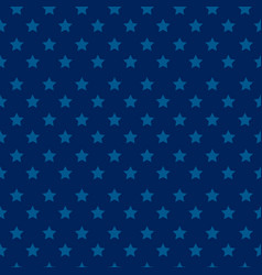 independence day seamless pattern with stars - blu vector image