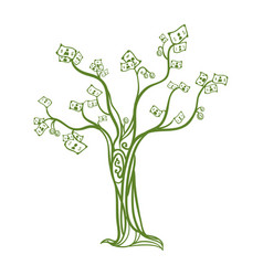 Money tree symbol vector