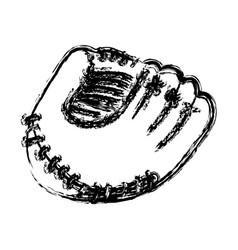 Monochrome sketch of baseball glove vector