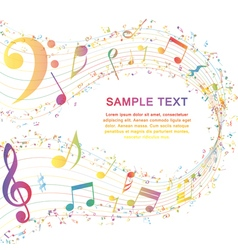 Musical key with notes row vector