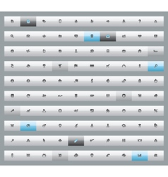 Set of 100 interface buttons vector image