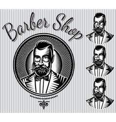 set of templates for hairdresser gentlemen vector image vector image