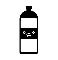 Soda bottle kawaii character vector