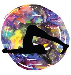 women silhouette plow yoga pose halasana vector image vector image