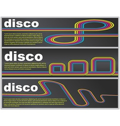 Disco web banners vector