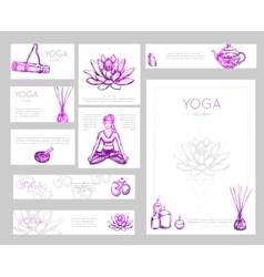 Yoga flyer design vector