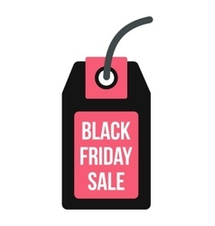 Black friday sale tag icon flat style vector