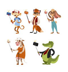 Funny picture photographer mamal person take vector
