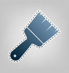 Brush sign   blue icon with vector