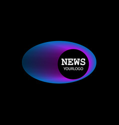 Logo news symbol vector