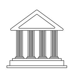 Ancient greek building icon image vector