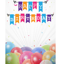 Birthday celebration greeting card vector