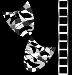 Black white background cinema vector