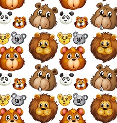 Seamless animal heads vector