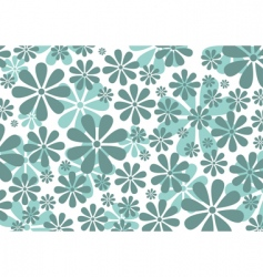 Retro daisy pattern vector