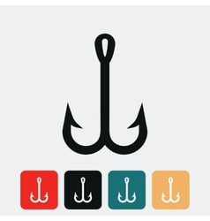 Fish hook icon vector