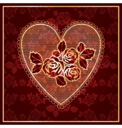 heart lace vector image