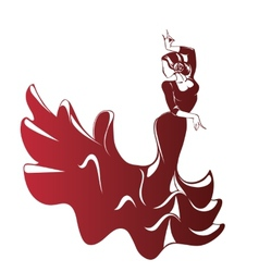 Flamenco silhouettes vector