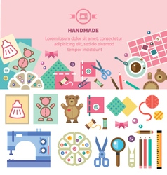 Homemade toys and clothes vector