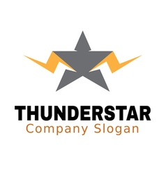 Thunder star design vector
