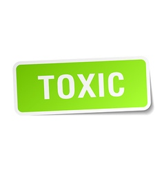 Toxic green square sticker on white background vector