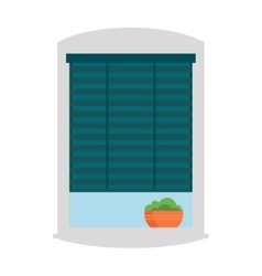 House window isolated on white background vector